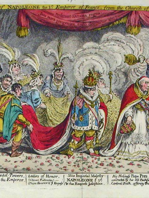 James Gillray: The Grand Coronation Procession of Napoleone the 1st, 1805