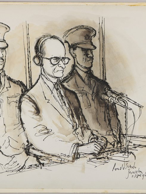 Ronald Searle: Eichmann in Court