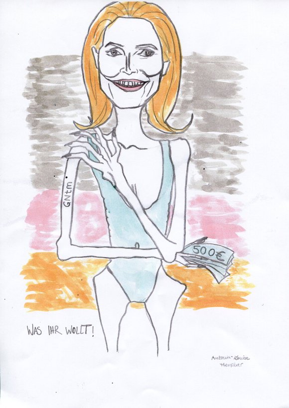 Heidi Klum - Karikatur-Workshop