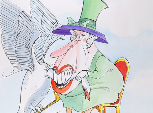 Gerald Scarfe: »The Queen is The Only Person Allowed to Eat Swan«