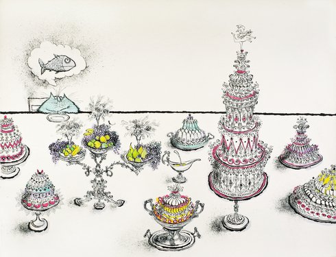 Ronald Searle, They're all against me, 1975