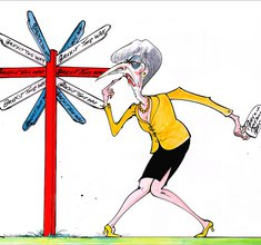 Gerald Scarfe:  Which Way Brexit?, 2016